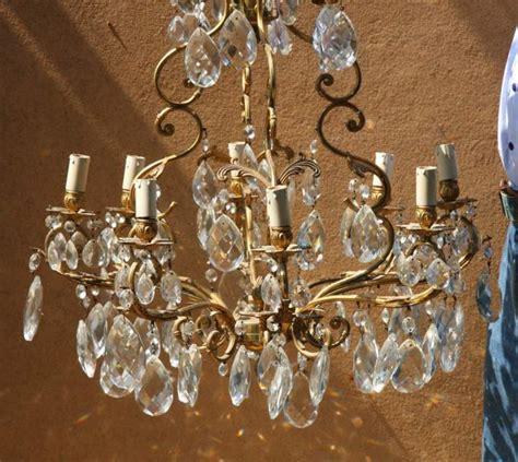 gocce di cristallo per ladari magnifico ladario in bronzo con gocce di a rivoli