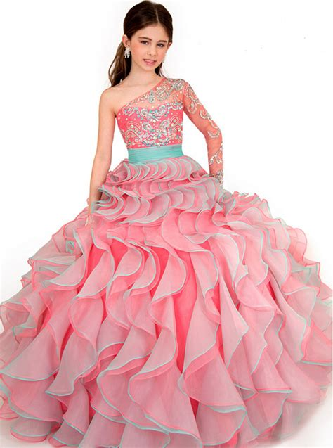 Stages Dress Gil 2016 princess dress sleeved pageant