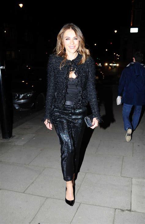 elizabeth hurley   black leaves  house  london  celebslacom