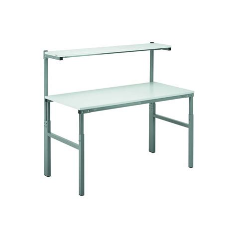 Shelf Height by Height Adjustable Workbenches With Uprights And Shelf