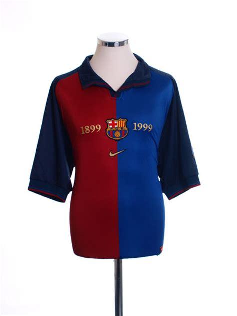 Jersey Retro Barcelona Centenary 1999 Home 1999 00 barcelona centenary home shirt xl for sale