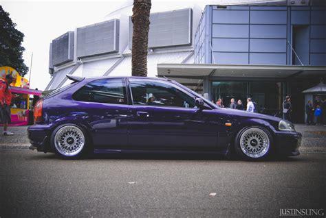 honda ek white ek honda civic in purple on white bbs rs bbs rs zone