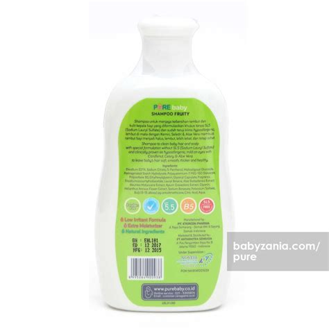 purebaby shoo fruity 230ml jual murah baby shoo fruity 230 ml perlengkapan