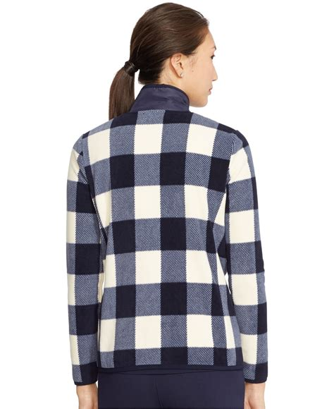 Ralph Plaid Quilted Vest by By Ralph Quilted Front Plaid Jacket In Blue