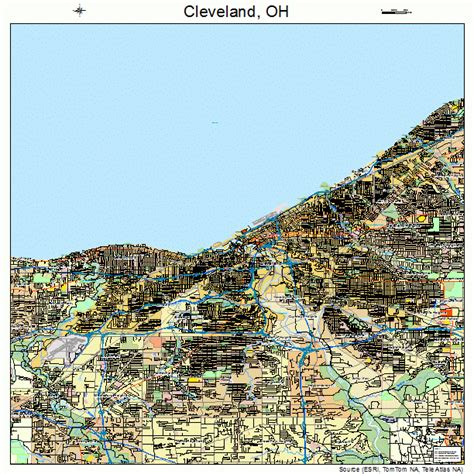 cleveland ohio map detailed map cleveland ohio pictures to pin on pinsdaddy