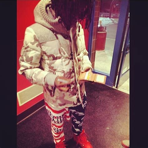 Chief Keef Wardrobe by Chief Keef Wearing Moncler Beaumont Camo Jacket Splashy