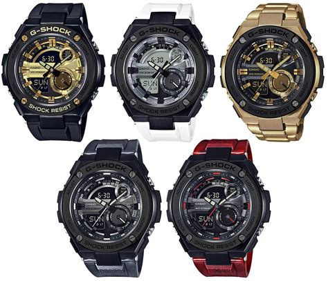 G Shock New For new g shock g steel gst 210 watches black gold black