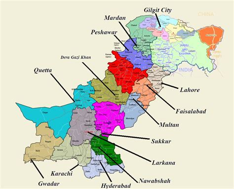 map of pakistan pakistan tourism guide maps of pakistan