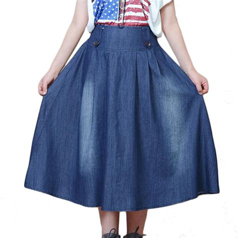 quality faldas 2015 cotton winter denim skirt