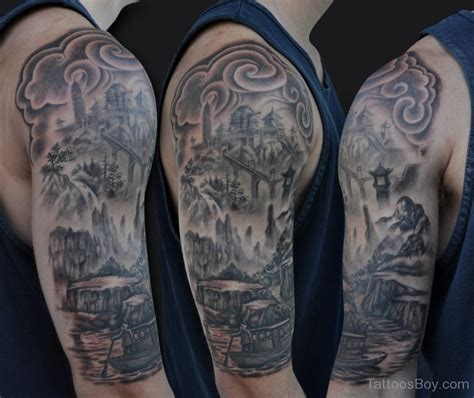 chinese half sleeve tattoo designs asian tattoos designs pictures