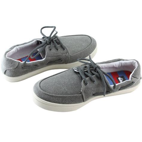 shoes 2 town quiksilver s surfside casual shoe grey