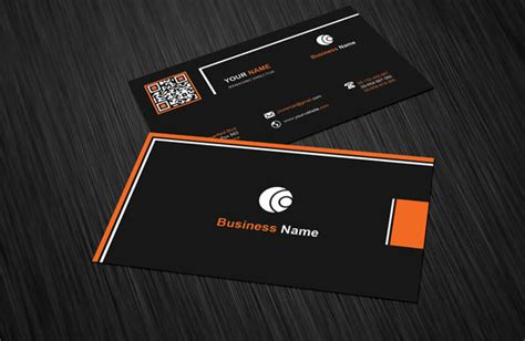 free orange and blue business card templates black orange business card template free