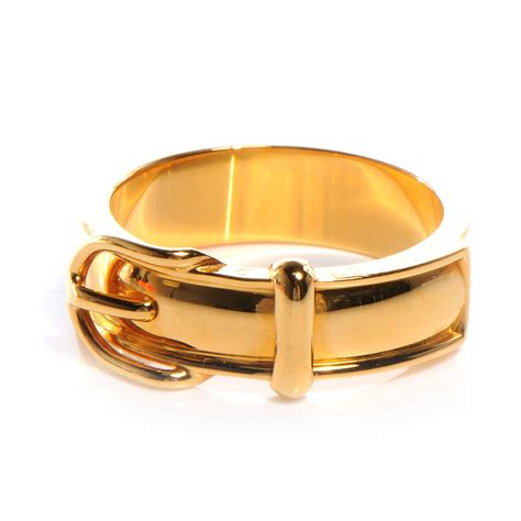 Ring Belt Gold hermes belt buckle scarf ring gold plated