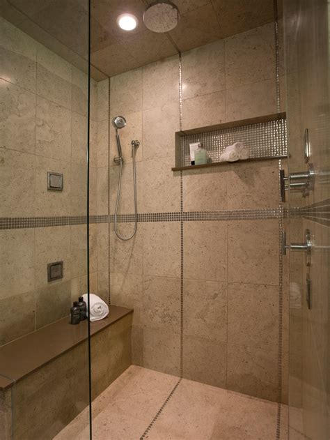 built in shower luxury shower with multilpe showerheads and sprays hgtv