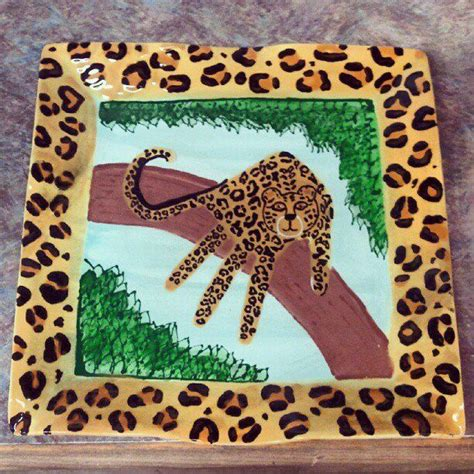 cheetah crafts for handprint safari leopard on a tree arts craft w the
