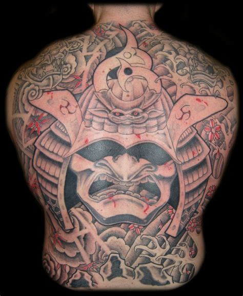 samurai oni mask tattoos samurai mask tattoo david