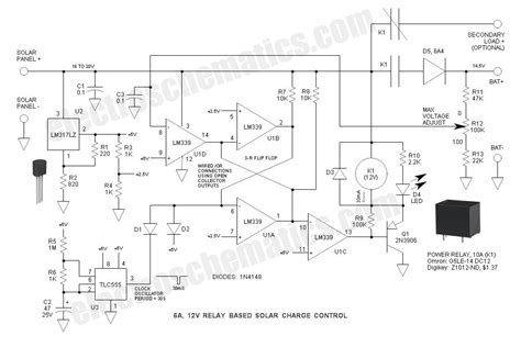 12v charge controller circuit diagram 6a 12v relay solar charge