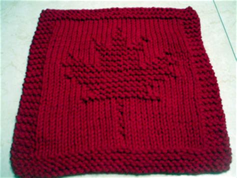 canadian knitting blogs ravelry garden maple leaf knitted dishcloth pattern by