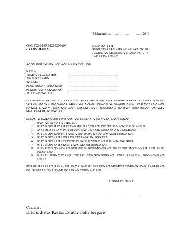 Surat Pernyataan Cpns Kemenkes by Contoh Lamaran Cpns Kemenkes Contoh Surat Lamaran