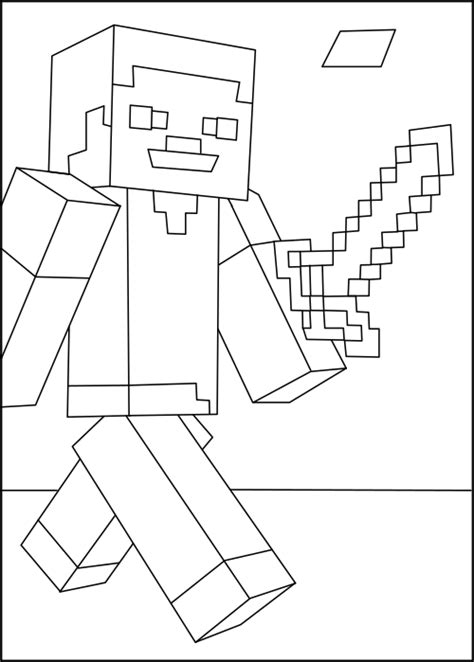 minecraft steve coloring pages free steve minecraft coloring pages free printable minecraft