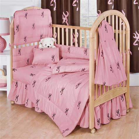 browning bedroom set browning buckmark pink crib bedding sets cabin place