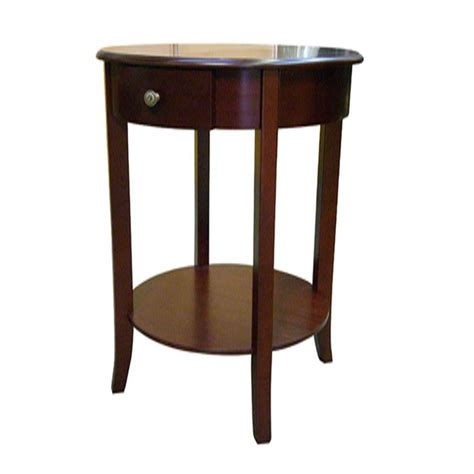 cherry end tables with storage cherry storage end table h 125n the home depot
