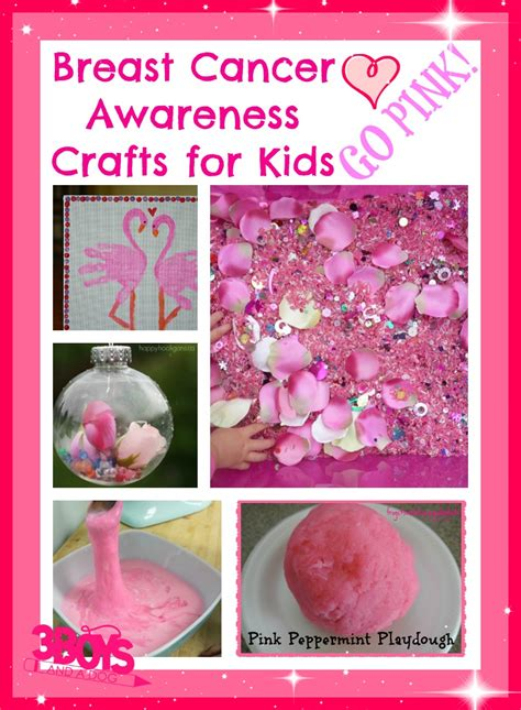 breast cancer craft projects breast cancer awareness activities for 3 boys and