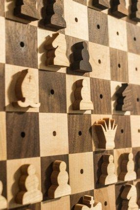 wall hanging chess set  woodworking tools chess