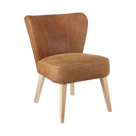 Small Chairs by Jackson Aged Leather Oak Chair Small Oka