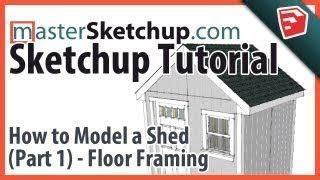 sketchup tutorial part  shed floor framing shed shed