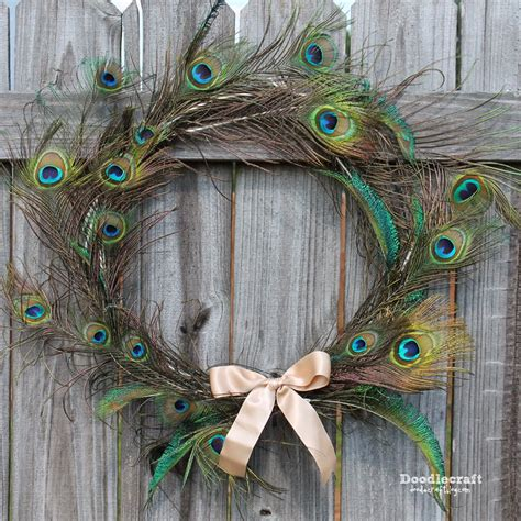 feather wreath doodlecraft peacock feather wreath