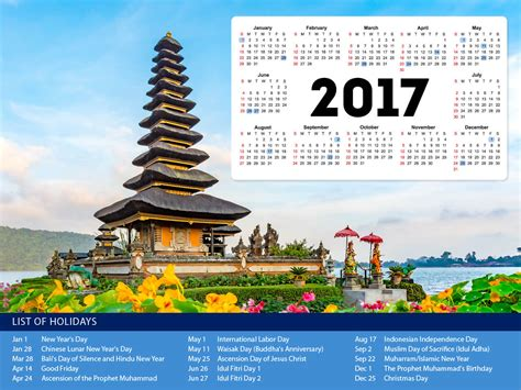 indonesia holiday calendar