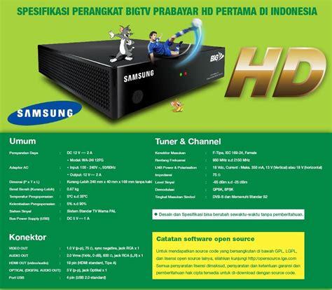 jual receiver samsung hd big tv parabolaku