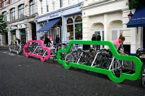 bike parking in new york inspired by designers