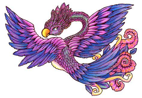 phoenix tattoo purple purple phoenix by anatane on deviantart