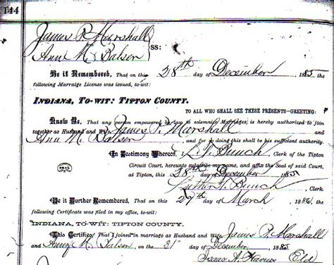 Marriage Records Indiana Indiana Marriage Records