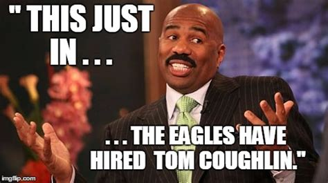 Tom Coughlin Memes - steve harvey meme imgflip