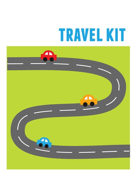 printable road kids travel kit binder over 150 free printable