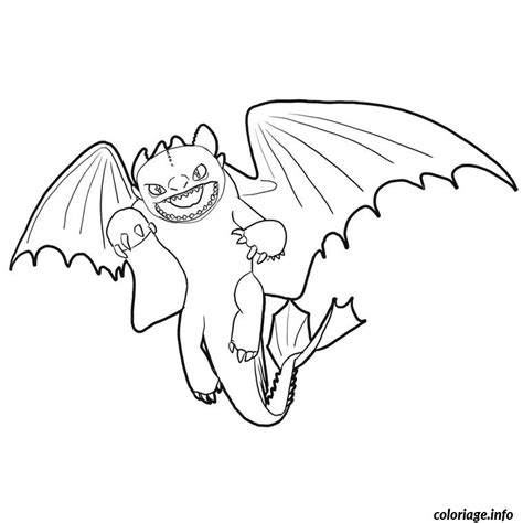 coloring pages of toothless dragon coloriage dragon furie nocturne dessin