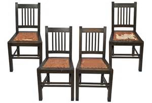 Vintage Wooden Dining Chairs Antique Stickley Quaint Furniture Wood Dining Chairs Set 4 Omero Home