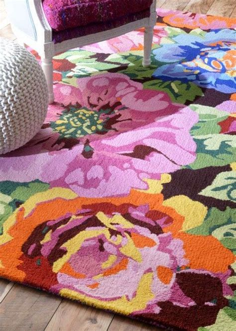 Eye For Design Decorating With Bold Floral Rugs Floral Rugs