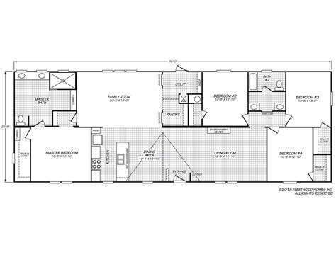 fleetwood mobile home floor plans sandalwood xl 28764w fleetwood homes