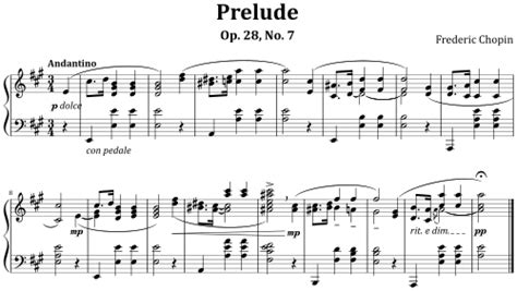 An Example Of Modern Musical Notation Prelude Op 28 No 7
