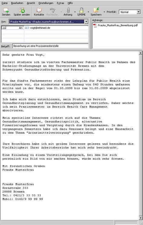 Anschreiben Praktikum Jva Universit 228 T Bremen Lernmodule