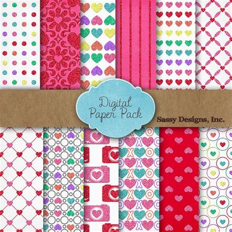 Free Card Papers - 12 free digital papers for s day pretty