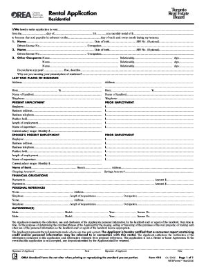 form  rental application residential  south wales