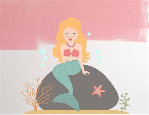 wall stickers children children s mermaid wall sticker set contemporary wall