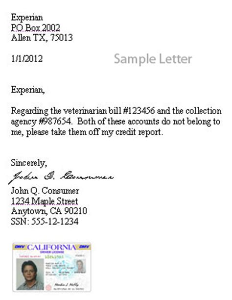 Credit Dispute Letter Address How To Write Effective Credit Report Dispute Letter Legacy