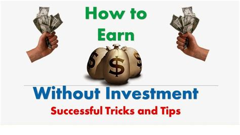 How To Make Money Without Investing Money Online - make fast money online no investment how to make money investing in africa