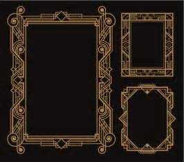 gatsby border template deco border vector getty images